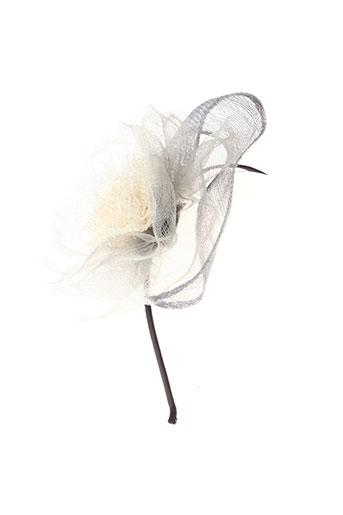 eva et line chapeaux et bonnets femme de couleur gris