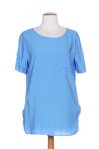 toni chemises femme de couleur bleu
