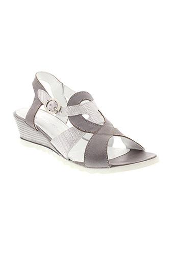 elles-memes chaussures femme de couleur gris
