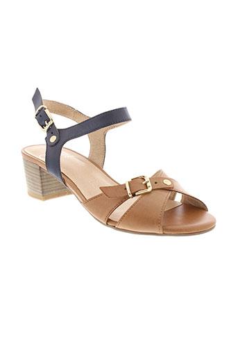 caprice sandales et nu et pieds femme de couleur marron