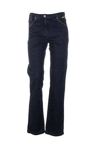 thalassa jeans et coupe et droite femme de couleur bleu