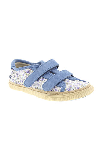 ikks chaussures fille de couleur bleu