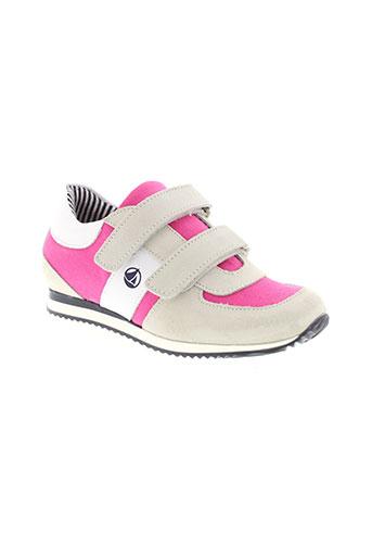 petit et bateau baskets fille de couleur rose