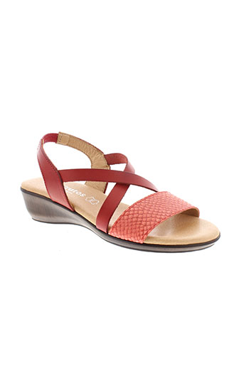eva et frutos sandales et nu et pieds femme de couleur rouge