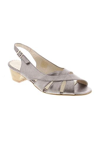 jean et de et cabani sandales et nu et pieds femme de couleur gris
