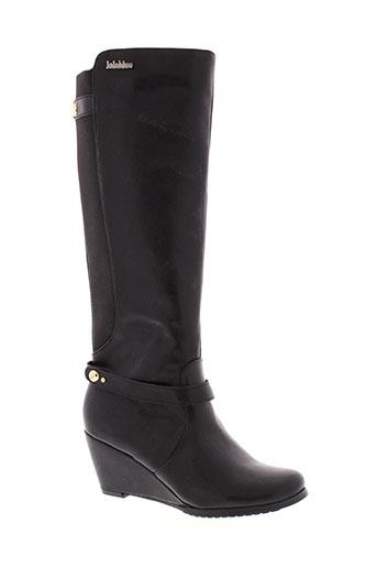 lolablue bottes femme de couleur noir