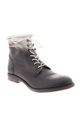 mustang boots homme de couleur gris