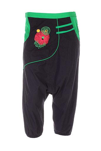 coline pantalons femme de couleur noir