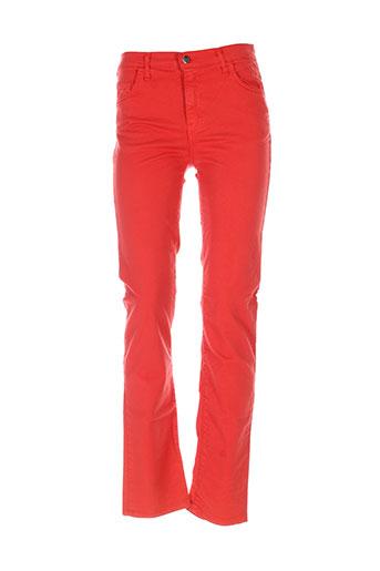 cinoche pantalons femme de couleur orange