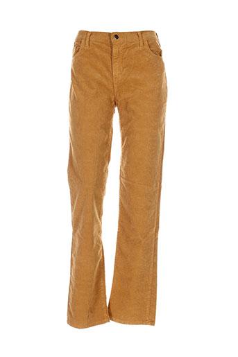 cinoche pantalons femme de couleur jaune