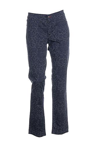 cowest pantalons femme de couleur bleu