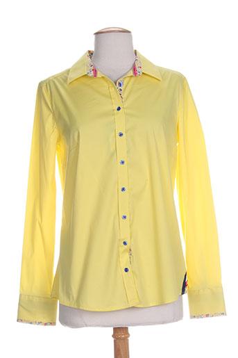 bariloche chemises femme de couleur jaune