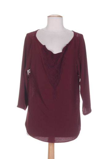 purple's by sh chemises femme de couleur rouge