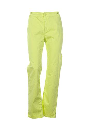 d.sport pantalons femme de couleur vert