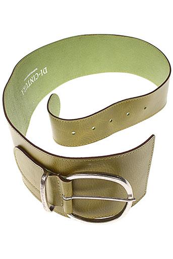 di et cintura ceintures femme de couleur vert