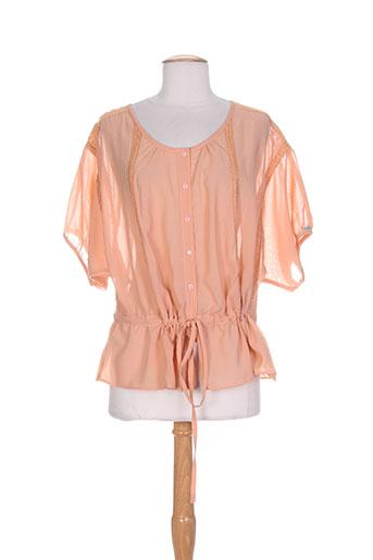 not the same chemises femme de couleur orange