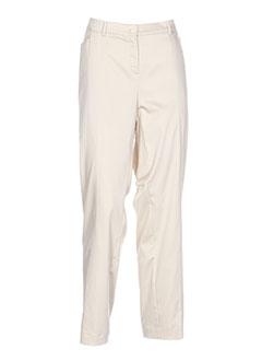 Pantalon chic beige FRANK WALDER pour femme