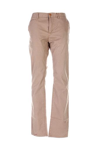 lerros pantalons homme de couleur beige