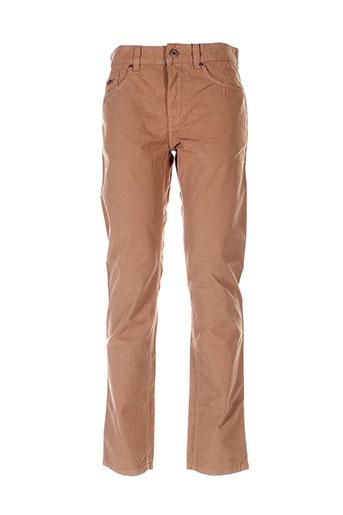 lerros pantalons homme de couleur marron