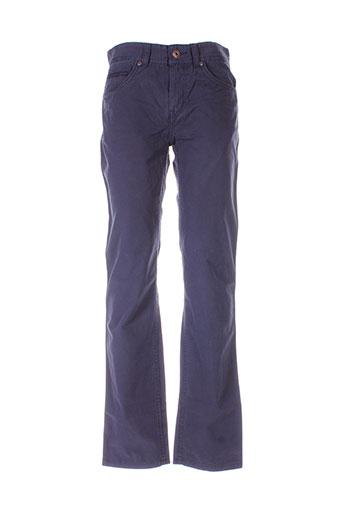lerros pantalons homme de couleur bleu