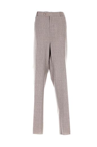 daudignon pantalons homme de couleur beige