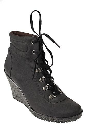 cable bottines femme de couleur noir