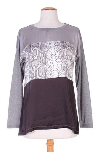 fransa chemises femme de couleur gris