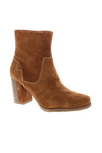 tamaris bottines femme de couleur marron