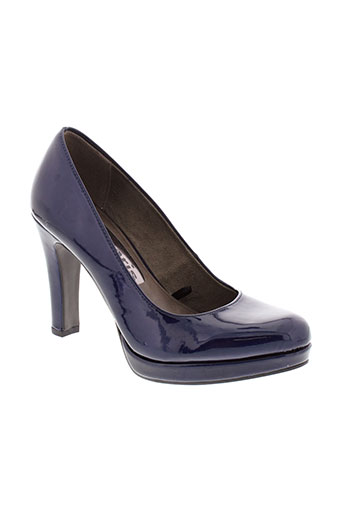 tamaris escarpins femme de couleur bleu