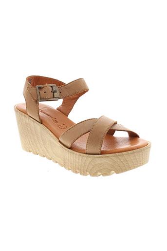 tamaris sandales et nu et pieds femme de couleur beige