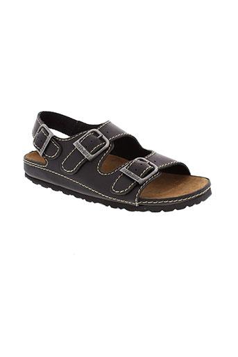 inter et bios sandales et nu et pieds homme de couleur noir