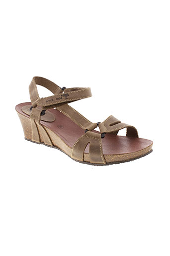 inter et bios sandales et nu et pieds femme de couleur marron