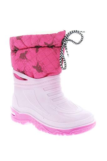 g et g bottes fille de couleur rose