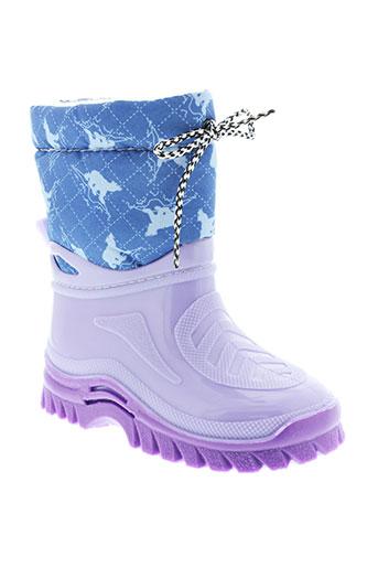 g et g bottes fille de couleur violet