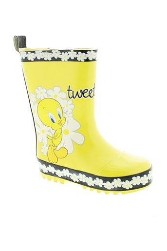 tweety bottes fille de couleur jaune