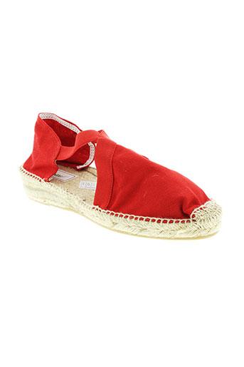 wapiti espadrilles femme de couleur rouge
