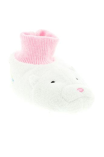 zhuzhu et pets pantoufle enfant de couleur blanc