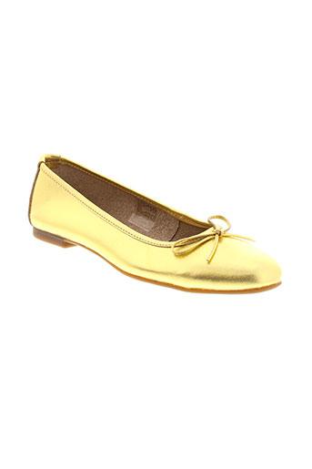 toscania ballerines femme de couleur jaune