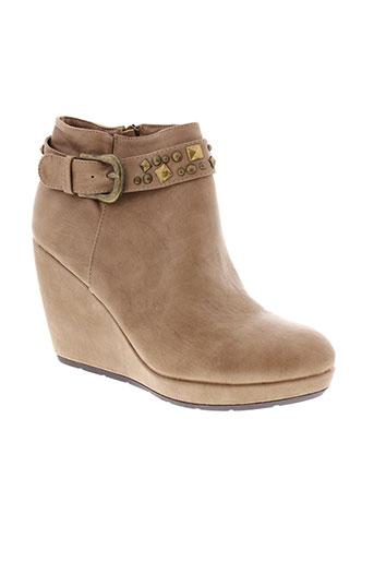 metty boots femme de couleur beige