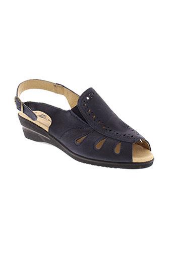 moran et s sandales et nu et pieds femme de couleur bleu