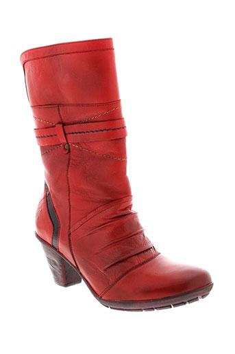 maciejka et obuwie bottines femme de couleur rouge