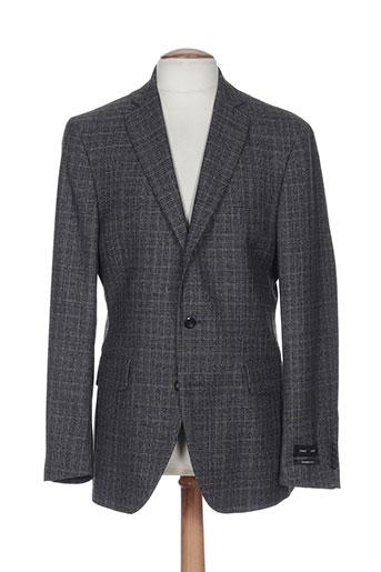 griffe noire vestes homme de couleur gris