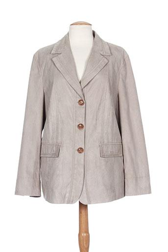 isabell vestes femme de couleur gris