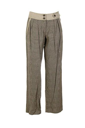 Pantalon casual marron COLLECTION PRIVEE pour femme