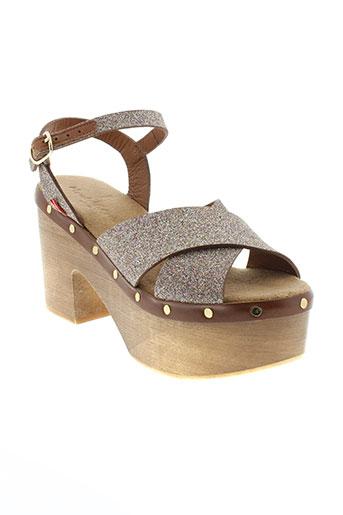 manila et grace sandales et nu et pieds femme de couleur marron