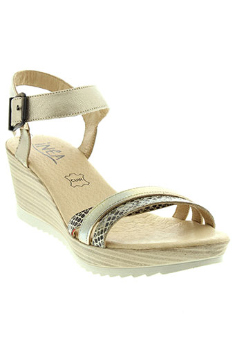 inea sandales et nu et pieds femme de couleur beige