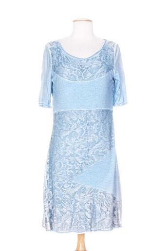 agnes ros robes femme de couleur bleu