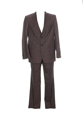 optimal pantalon et veste homme de couleur marron