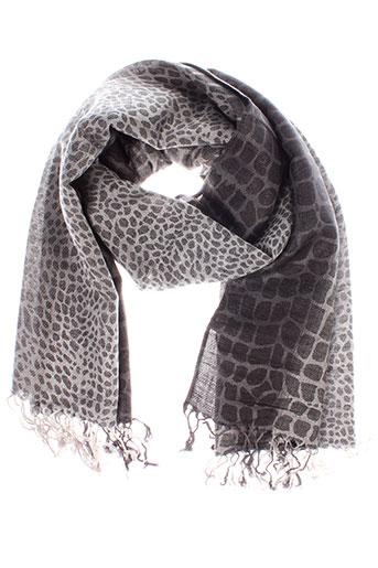 caroll foulards femme de couleur gris