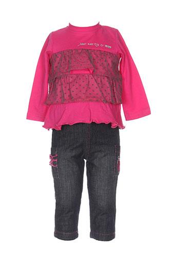 3 et pommes t et shirt et pantalon fille de couleur rose